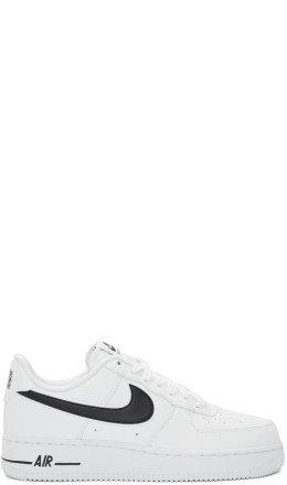 Nike - White & Black Air Force 1 '07 Sneakers