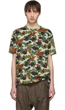 Junya Watanabe - Green & Brown Camo T-Shirt
