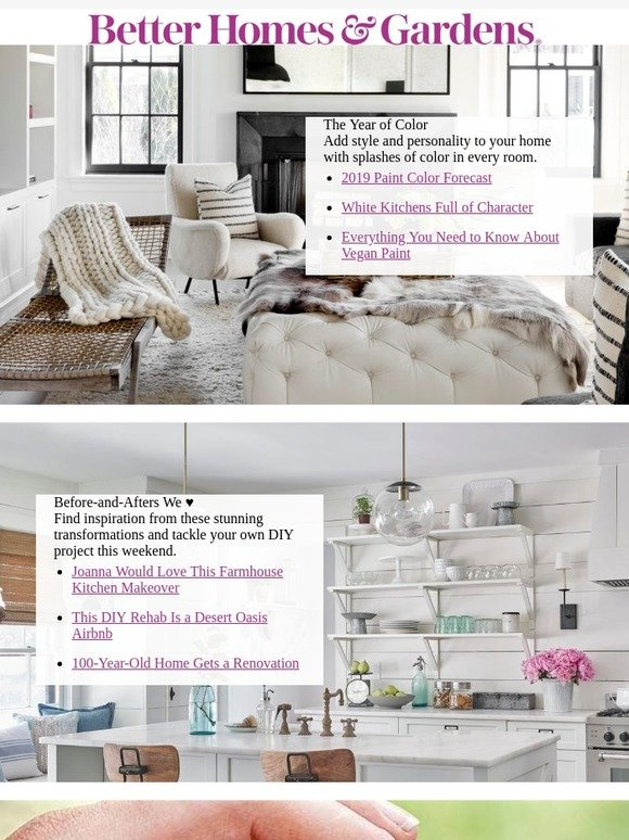 Better Homes and Gardens: 2019 Paint Color Forecast | Milled