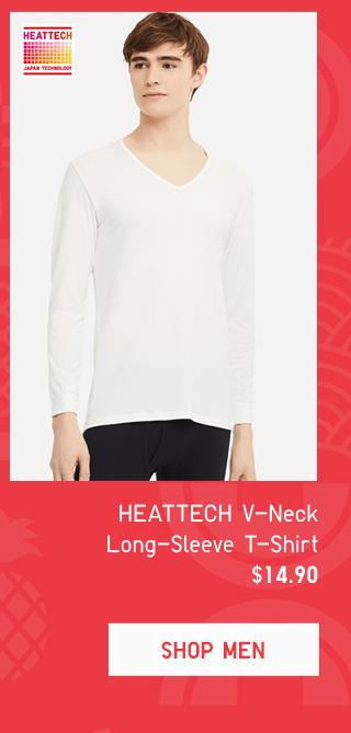 HEATTECH V-NECK LONG-SLEEVE T-SHIRT $14.90 - SHOP MEN