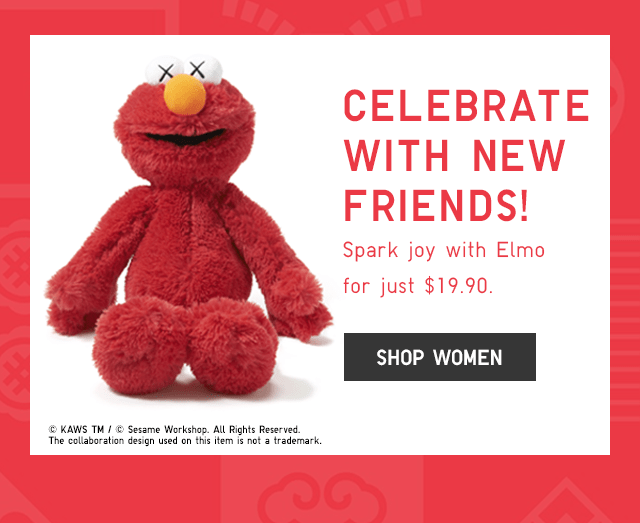 SPARK JOY WITH ELMO FOR JUST $19.90 - SHOP WOMEN