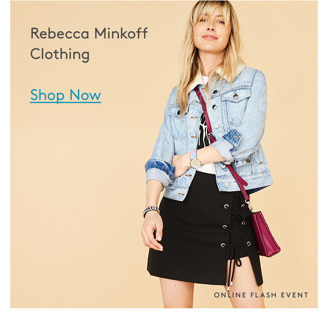 Rebecca Minkoff Clothing | Shop Now | Online Flash Event