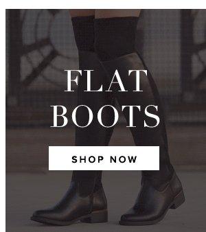 SHOP FLAT BOOTS NOW