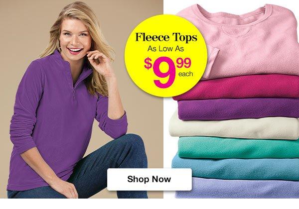 Shop Women's Fleece Tops!