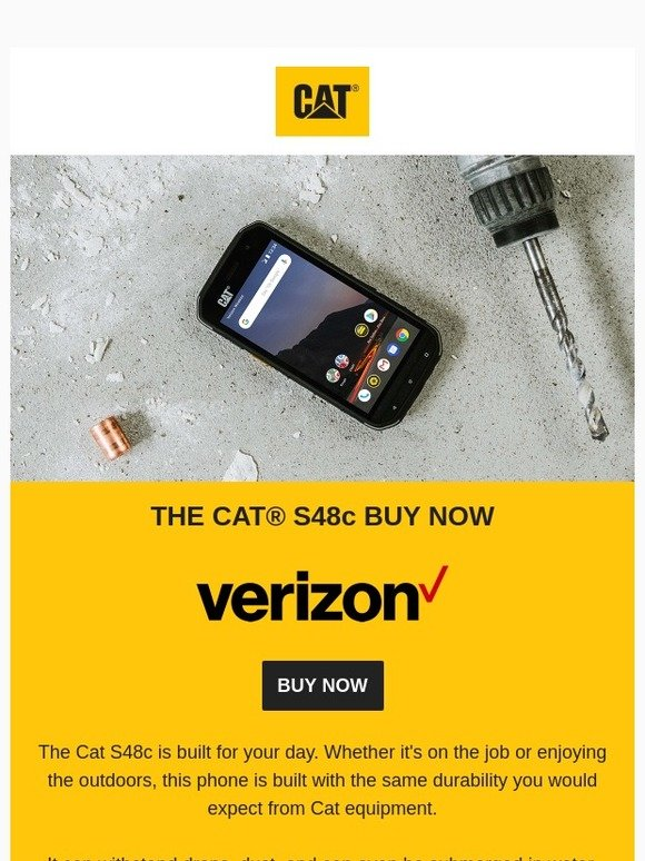 Cat Phones Uk: AVAILABLE NOW: The Cat S48c for Verizon | Milled