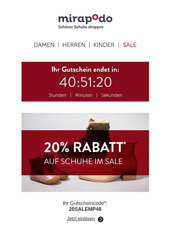 83752b8a481382 mirapodo - Schöner Schuhe shoppen  Ihr 20% Extra-Rabatt endet morgen ...