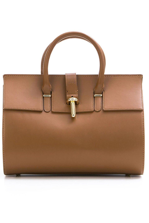 Secchia Handbag in Cognac