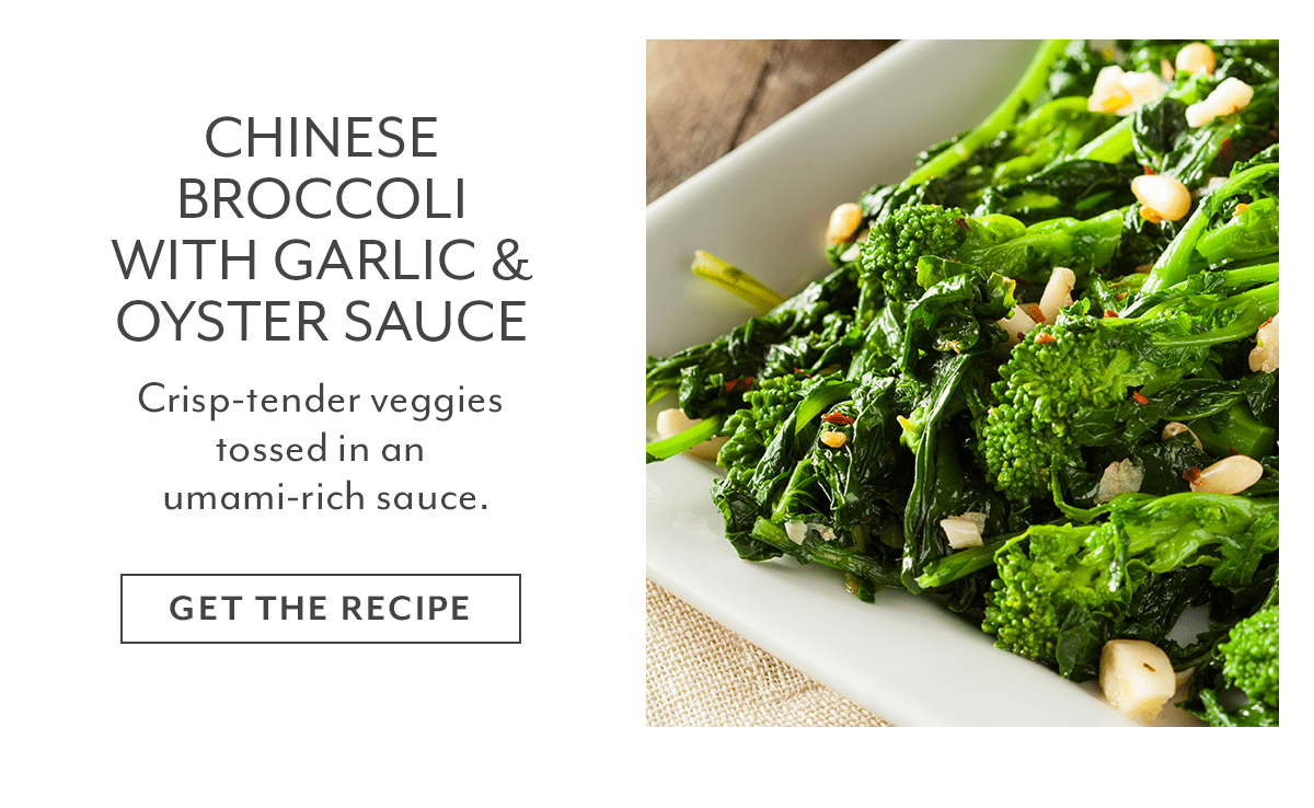 Recipe - Chinese Broccoli with Garlic & Oyster Sauce