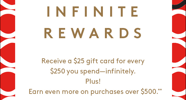 Receive a gift card for every purchase.