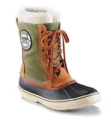 Men's L.L.Bean Snow Boots with Patch, Canvas Lace-Up.