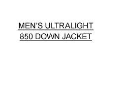 Men's Ultralight 850 Down Jacket.