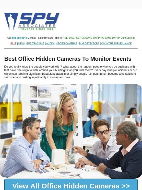SpyAssociates com: 👨 💼 These Office Hidden Cameras Are