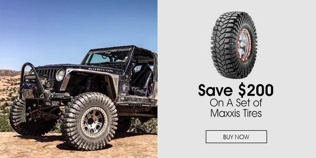 $200 Off on a set of Maxxis Tires