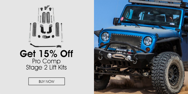 15% Off on Pro Comp Stage 2 Lift Kits
