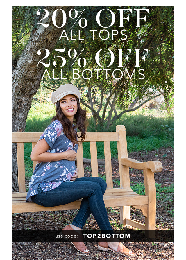 20% Off Tops + 25% Off Bottoms