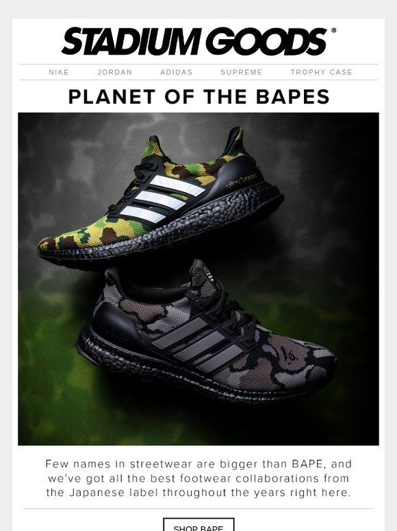a00f282ce1f Stadium Goods  The greatest BAPE footwear collaborations from adidas and  more