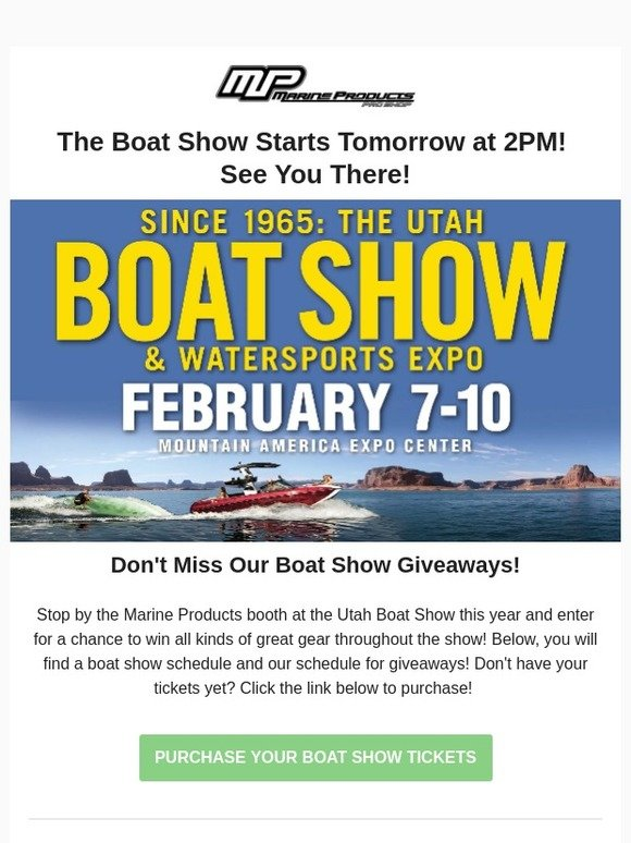 Boat show giveaways