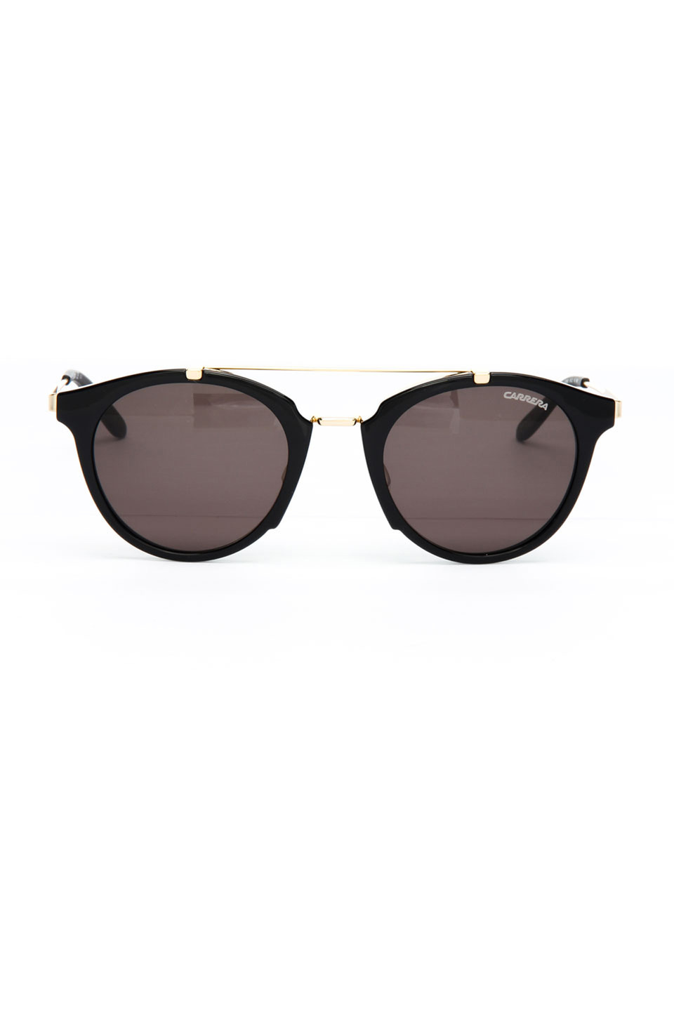 Carrera Unisex Sunglasses in Shiny Black and Gold