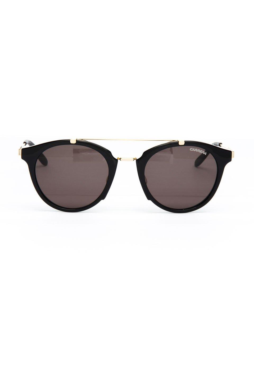 Carrera Unisex Sunglasses in Shiny Black and Gold