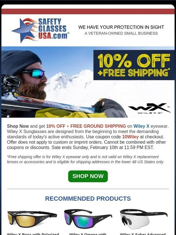 safety glasses usa coupon free shipping