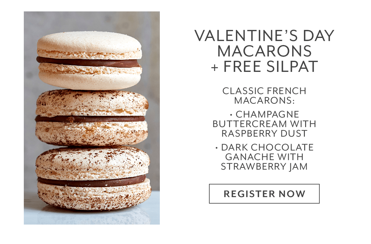 Class - Valentine's Day Macarons + Free Silpat