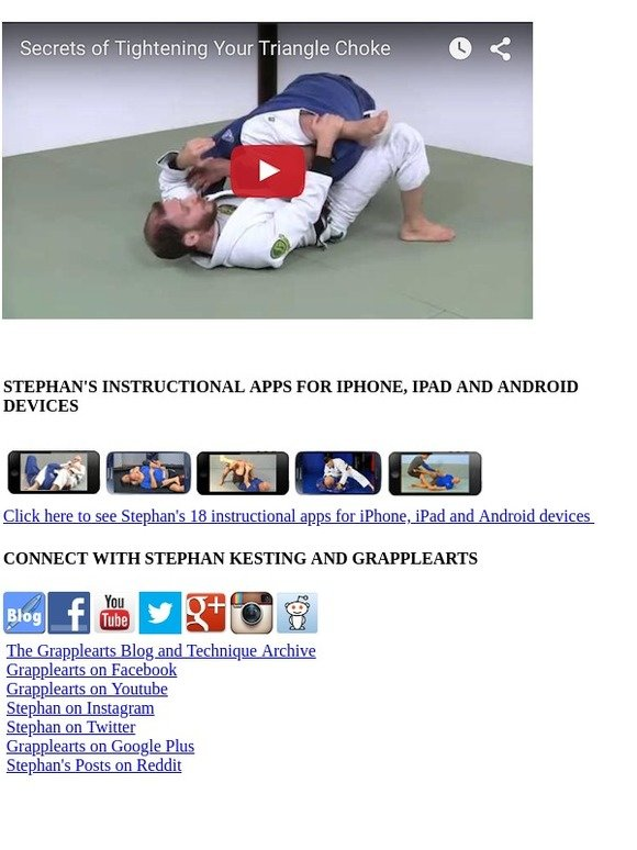 How To Defeat The Bigger, Stronger Opponent: Triangle choke