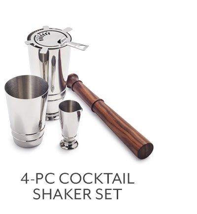 4-PC Cocktail Shaker Set