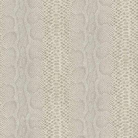 Beige Glitter Animal Print Snake Skin Wallpaper Textured Metallic Shimmer Rasch