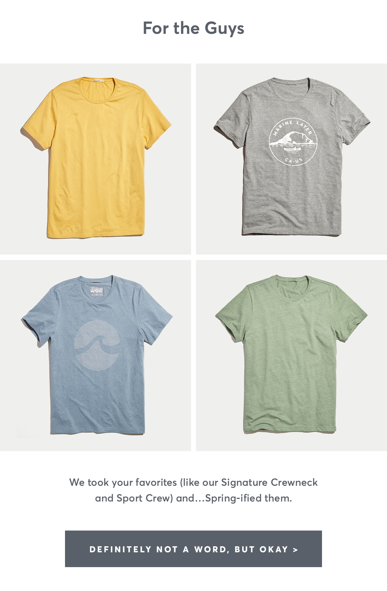 56140e22 Marine Layer: Incoming: new absurdly soft tees   Milled