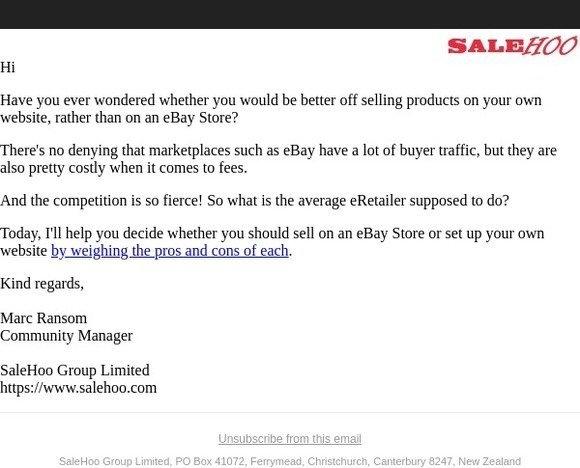 Auction Inspector Niche Software For Ebay Lt Sup Gt Reg Lt Sup Gt New Site Showdown Ebay Stores Vs Your Own Website Milled
