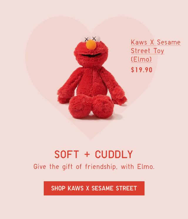 KAWS X SESAME STREET TOY (ELMO) $19.90