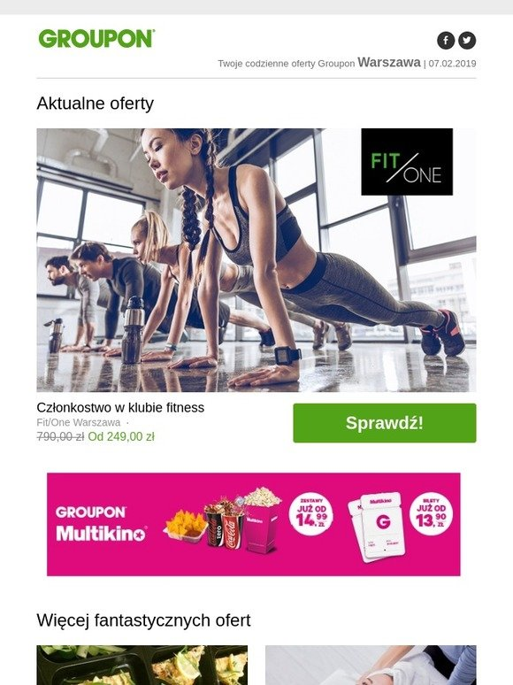 Groupon Pl Członkostwo W Klubie Fitness Milled