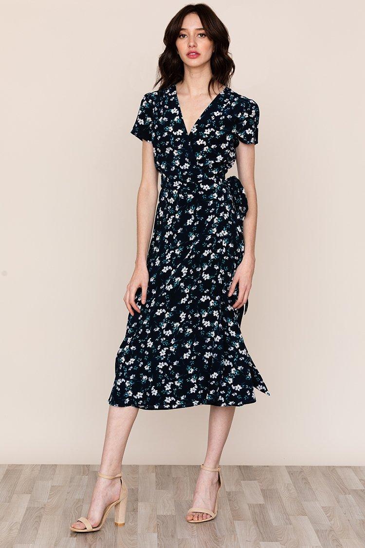 Image of SPIN ME AROUND SILK DRESS