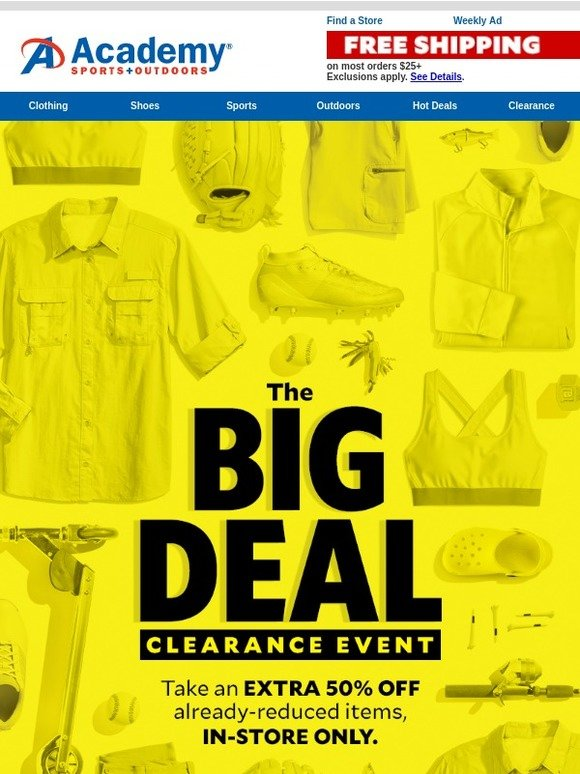 big deals outdoors