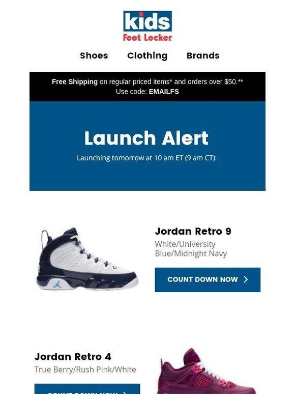 3169937e8d2407 Kids Foot Locker  Releasing 2.9  Jordan Retro 9 and Retro 4.