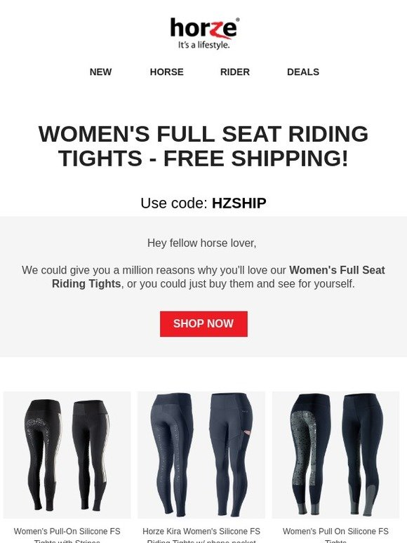 f1a55f555 Horze.co.uk  Women s Full Seat Riding Tights - Free Shipping!
