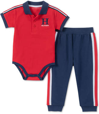 76bc9c87eb5b Baby Boys 2-Pc. Polo Shirt Bodysuit   Jogger Pants Set