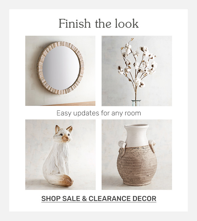 Shop sale and clearance decor.