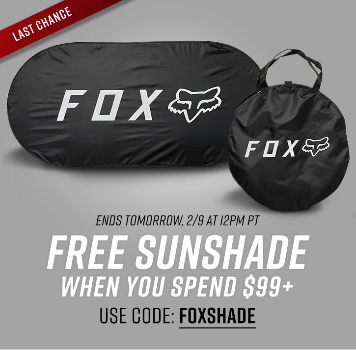 Last Chance for a Free Sunshade with $99+ purchase
