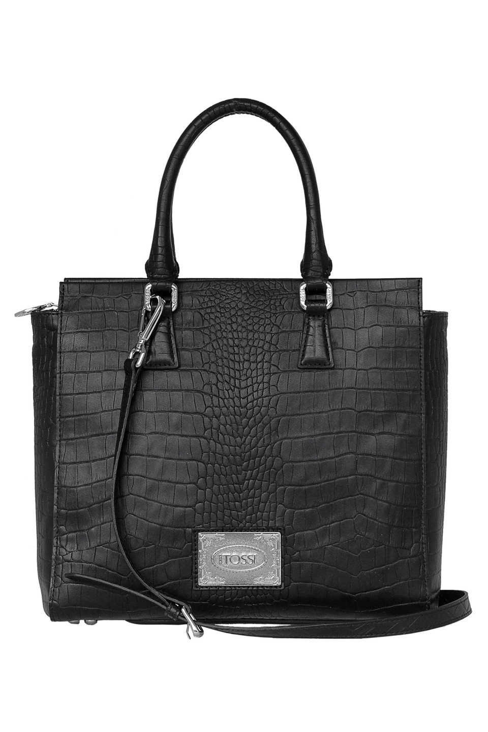 High-Tech Surface Coating Hand Bag in Black