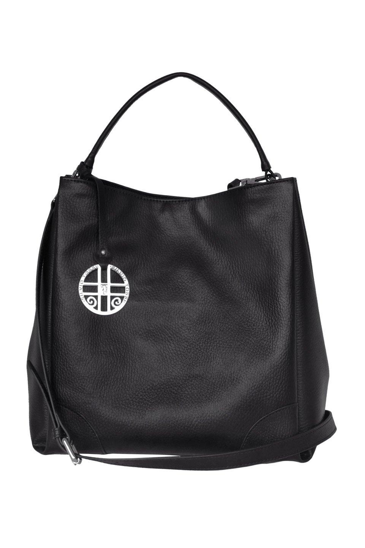 Melinda Leather Shoulderbag in Black
