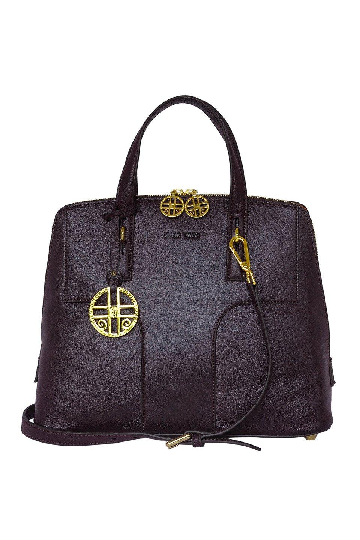 High-Quality Italian Lamb Leather Hand Bag in Dark Brown