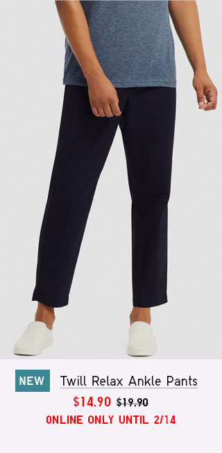 RELAX COTTON ANKLE PANTS $14.90