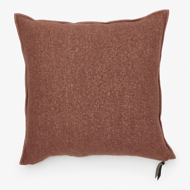 maison de vacances canvas bouclette pillow blush