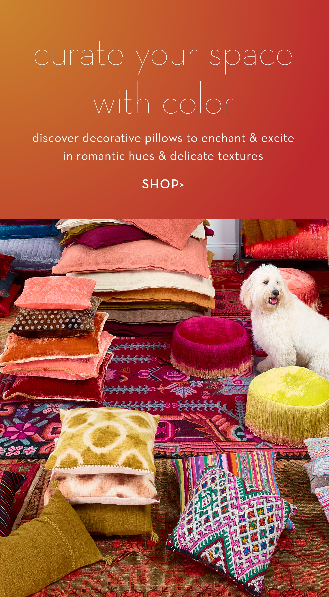 just for you... decorative pillows