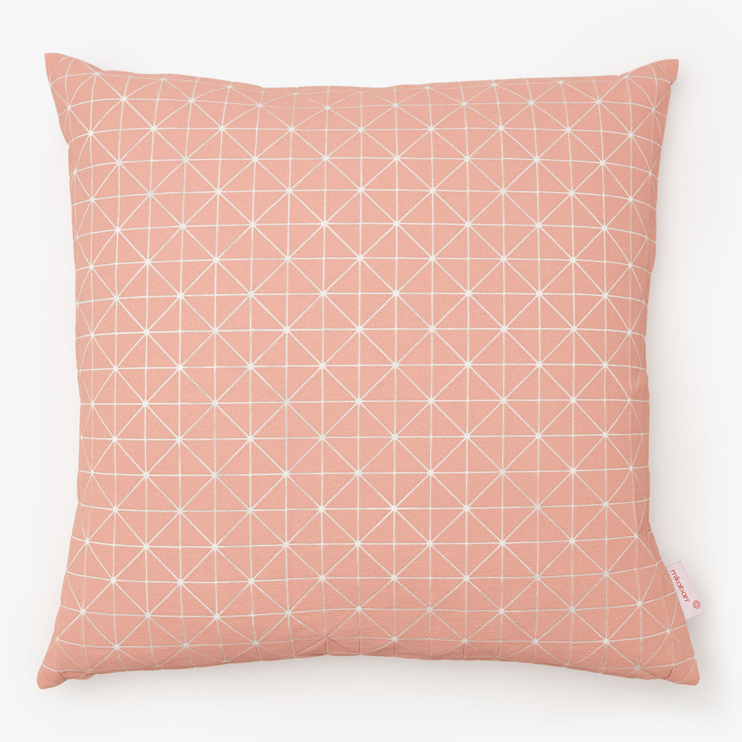 mikabarr geo origami pillow pale pink - pink