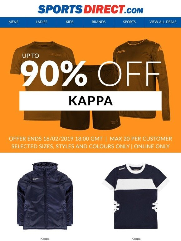 9be6c1a354 Sports Direct AU: Up To 90% off Kappa | Milled