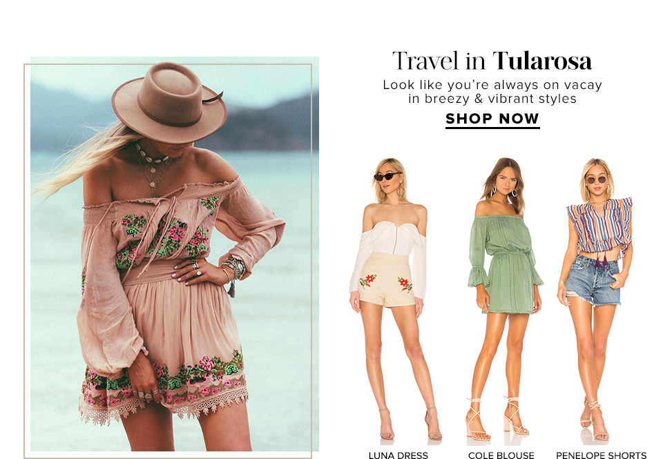 Travel in Tularosa. Look like you're always on vacay in breezy & vibrant styles. Shop Now.