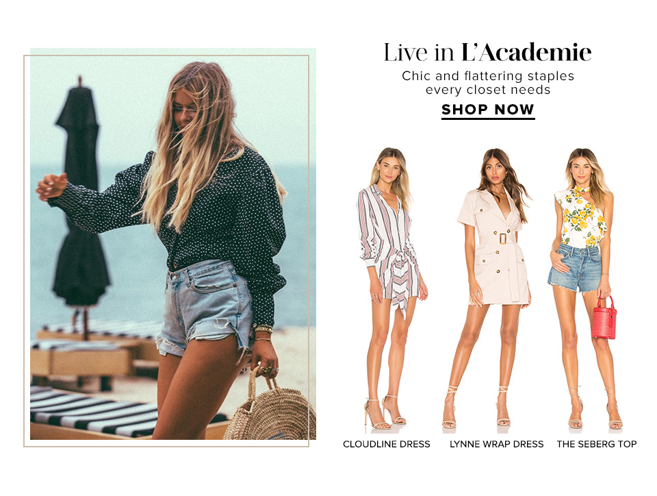 Live in L'Academie. Chic and flattering staples every closet needs. Shop Now.