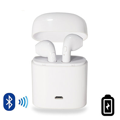 Dual Chamber Wireless Bluetooth Earphones With Charging Box